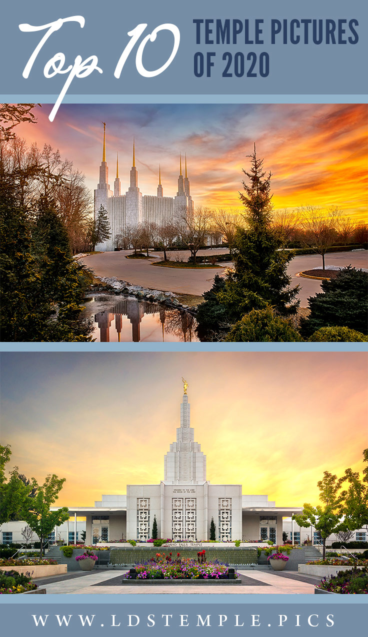 Our Top 10 Temple Pictures of 2020 | As the crazy 2020 draws to a close, we wanted to share with you our 10 most popular LDS temple pictures from the year! We hope you enjoy them as much as us!