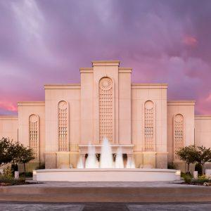 albuquerque-temple-fountain-sunset