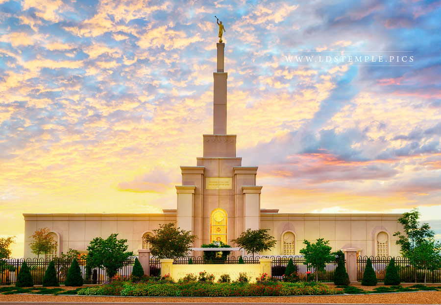 Albuquerque Temple Glorious Day Print