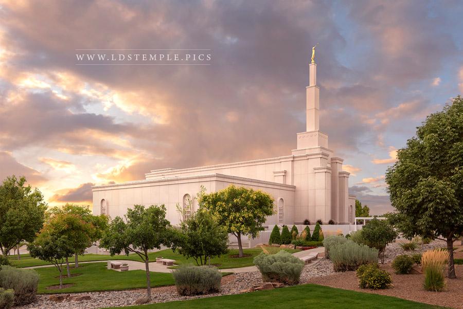 Albuquerque Temple – Summer Sunset