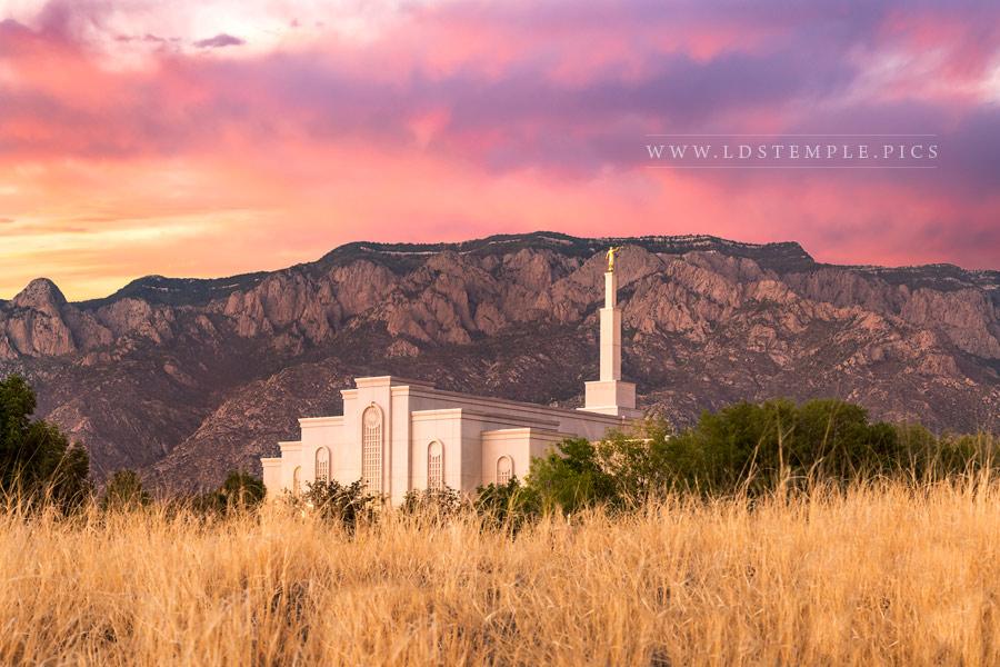 Albuquerque Temple Sunset Southwest Print