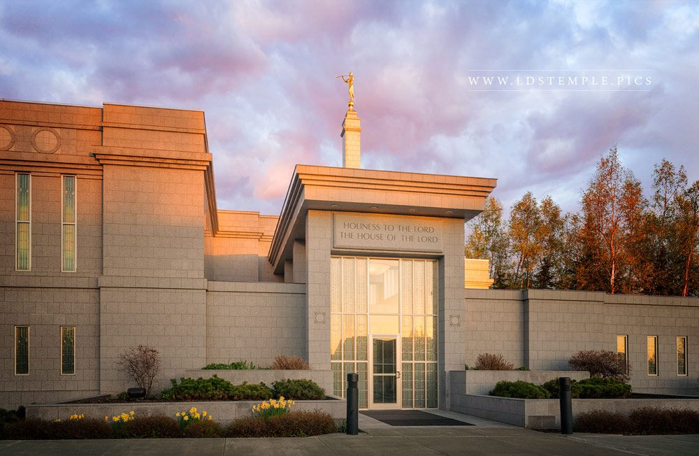 Anchorage Temple Angels and Angles Print