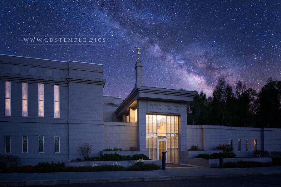 Anchorage Temple Celestial Print