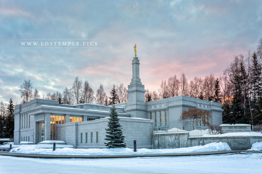 Anchorage Temple Winter Skies Print