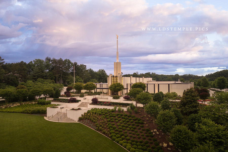 Atlanta Temple From On High Print