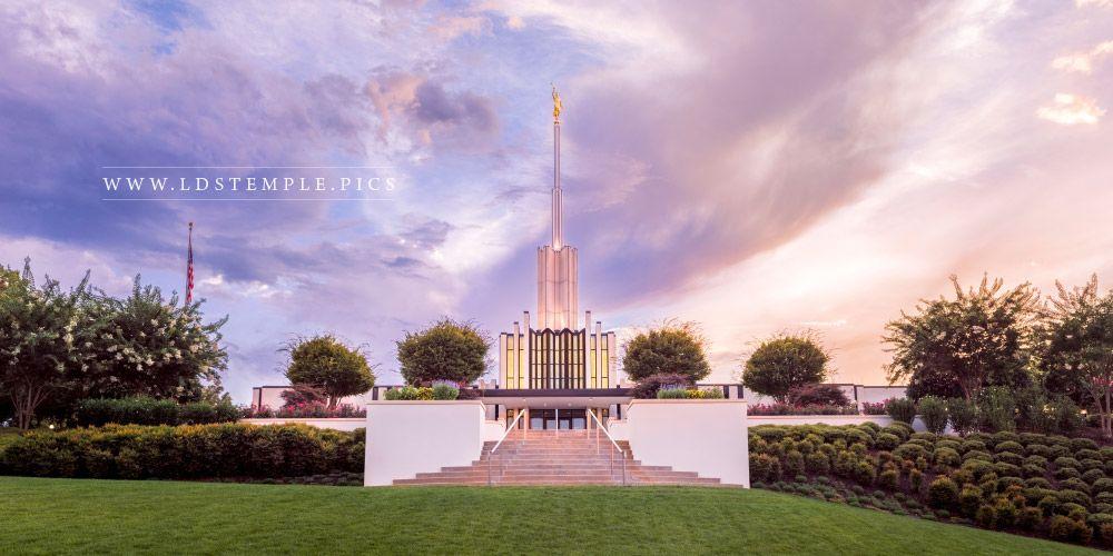 Atlanta Temple Front Sunset Print
