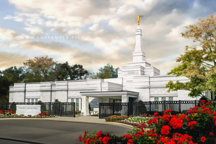 Baton Rouge Temple – Sunset Painting (Before Renovations)