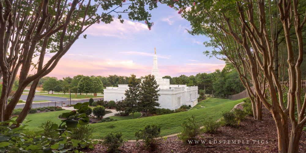 Birmingham Temple Sunset Print