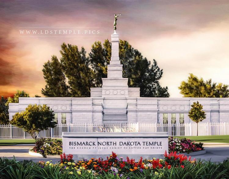 Bismarck Temple – Sunset Painting
