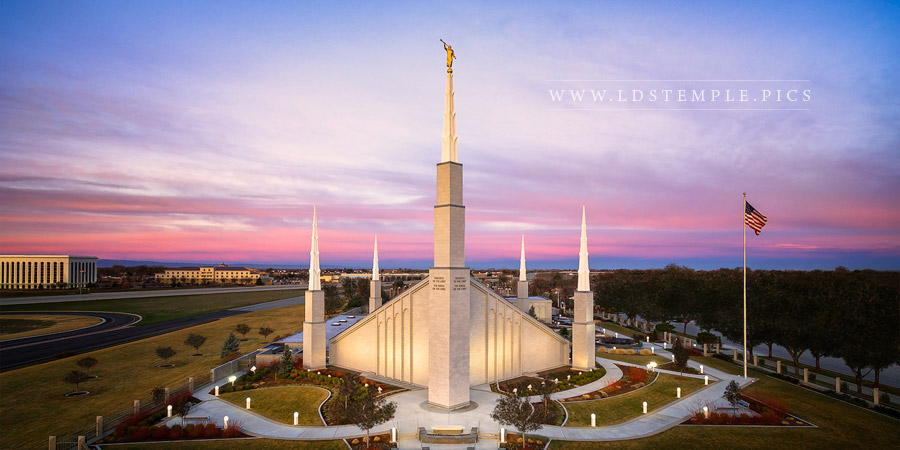 Boise Temple From on High Print