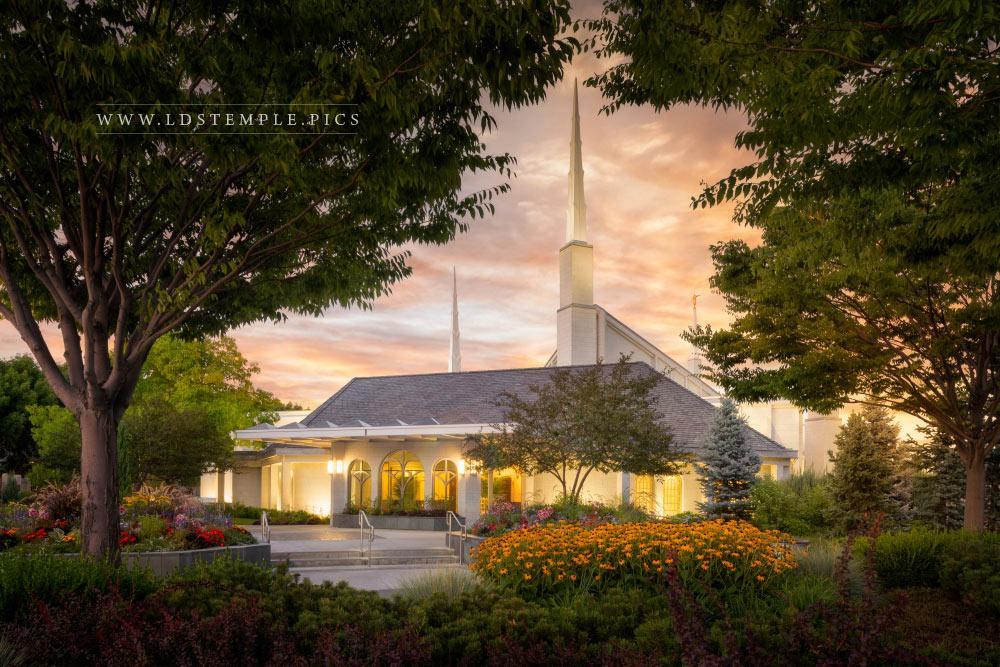 Boise Temple Garden Sunset Print