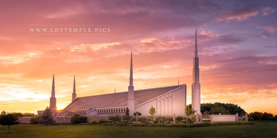Boise Temple Sunset Panoramic Print