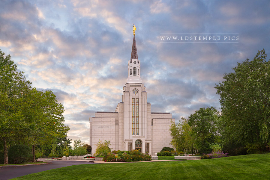 Boston Temple Evening Skies Print