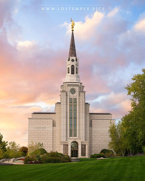 Boston Temple Glory To The Highest Print