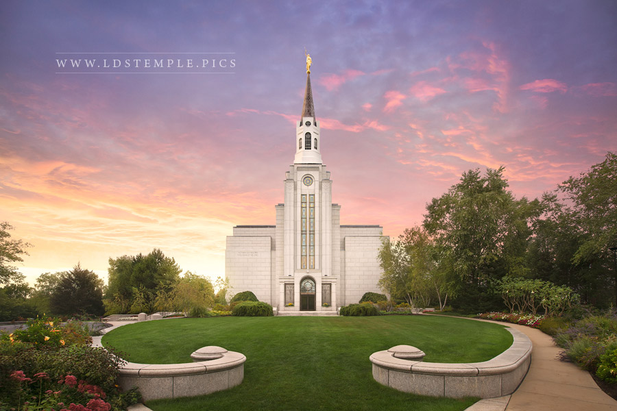 Boston Temple Sunset Glow Print