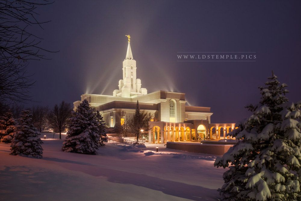 Bountiful Temple Winter Glow Print