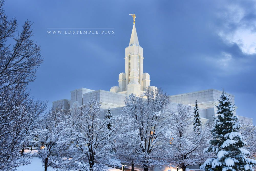 Houston Texas Snow >> bountiful-temple-evening-snow - LDS Temple Pictures