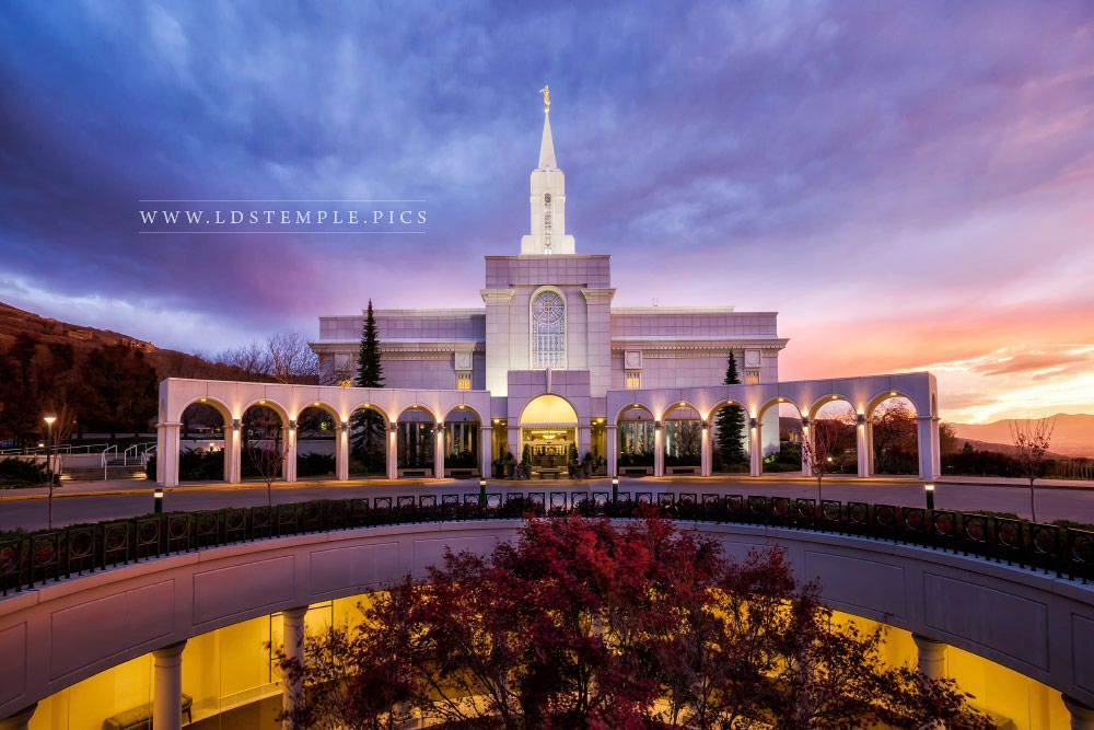Bountiful temple fall sunset lds temple pictures for Bountiful storage