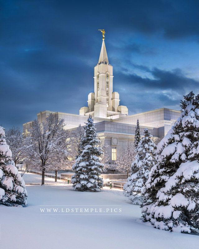 Bountiful Temple Fresh Snow Twilight Lds Temple Pictures