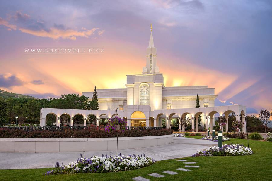 Bountiful Temple Morning Light Print