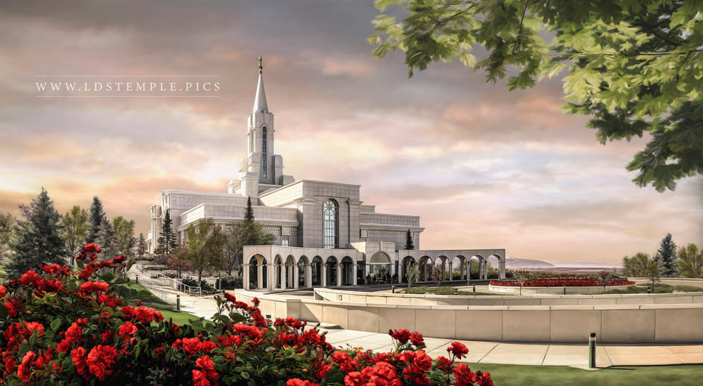Bountiful Temple Summer Sunrise Painting Print