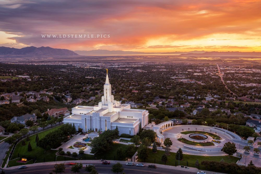 Bountiful Temple Summer Sunset Lds Temple Pictures