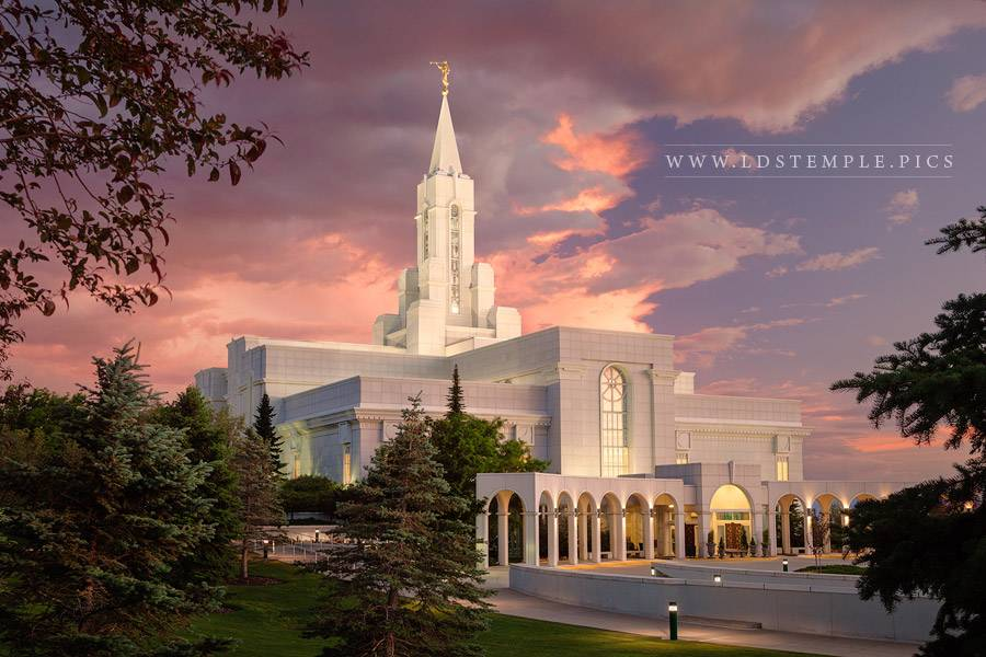 Bountiful Temple Pastel Sunset Southwest Print