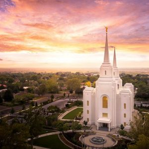 brigham-city-temple-aerial-sunset-from-on-high