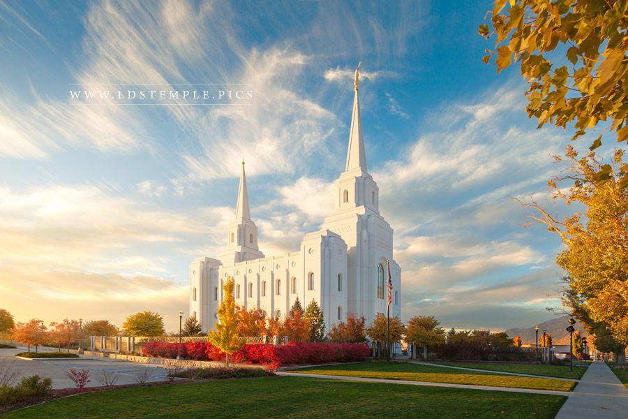 Brigham City Temple Autumn Glow Print