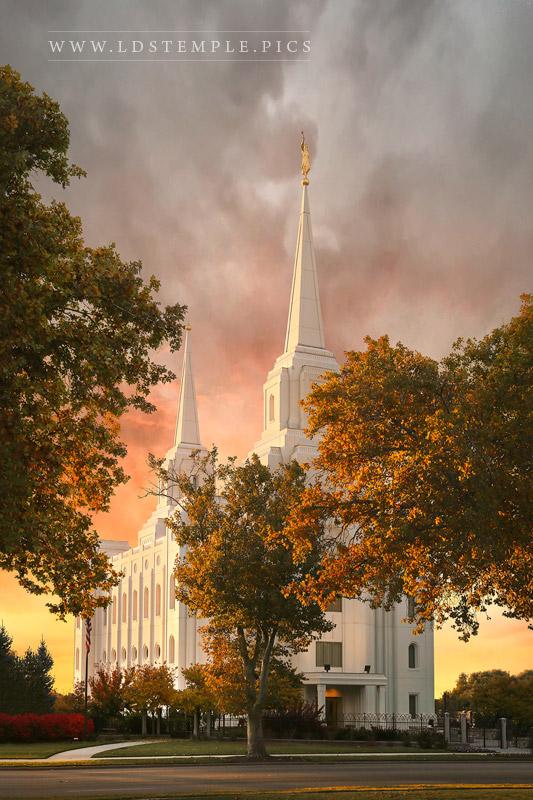 Brigham City Temple Colors of Autumn Print