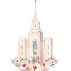 brigham-city-temple-floral-watercolor-painting