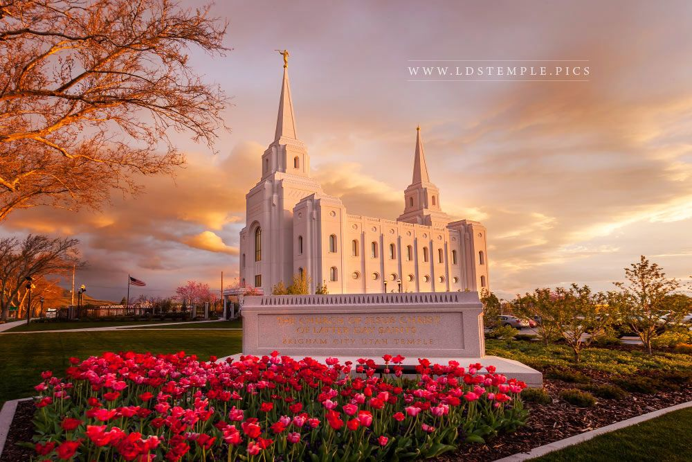 Brigham City Temple Last Light Lds Temple Pictures