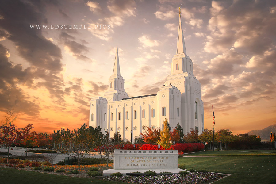 Brigham City Temple October Sunset Print