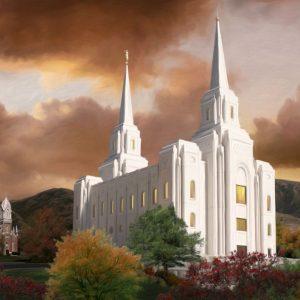brigham-city-temple-painting-autumn-sunset