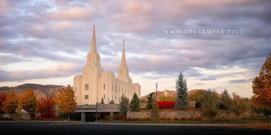Brigham City Temple Seasons Change Print