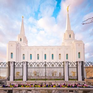 brigham-city-temple-spring-flowers