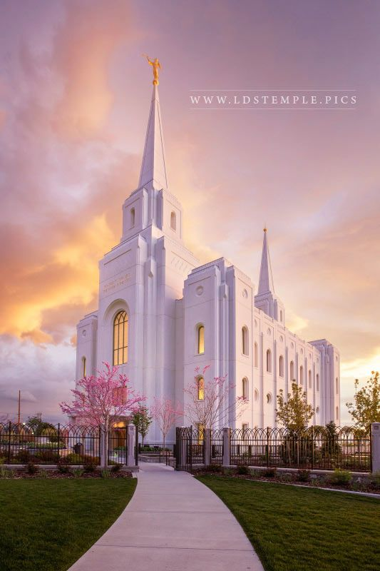 Brigham City Temple Spring Sunset Print