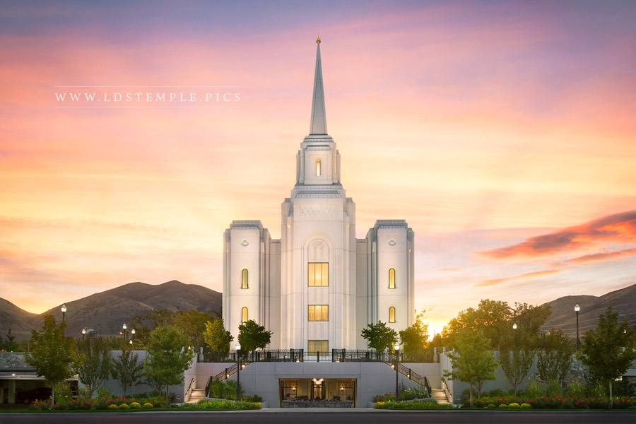 Brigham City Temple Summer Sunrise Print
