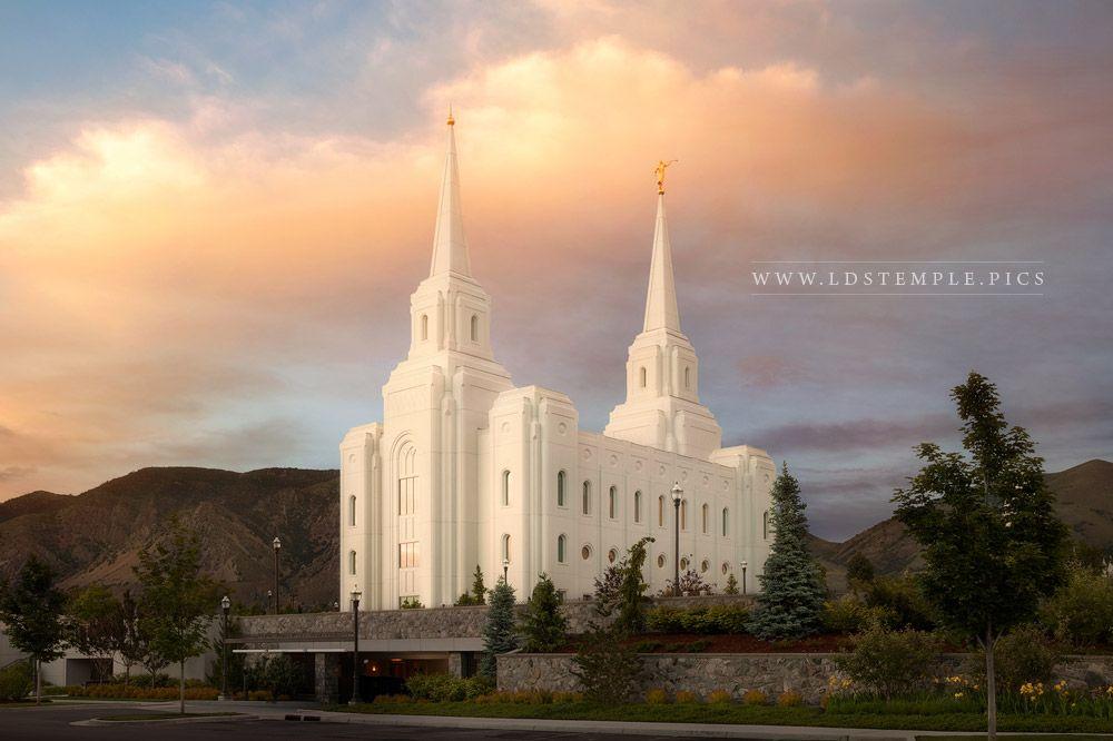 Brigham City Temple Sunset Northeast Print