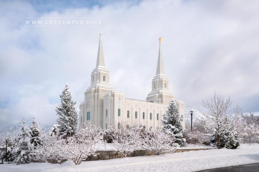 Brigham City Temple Winter Winderland Print