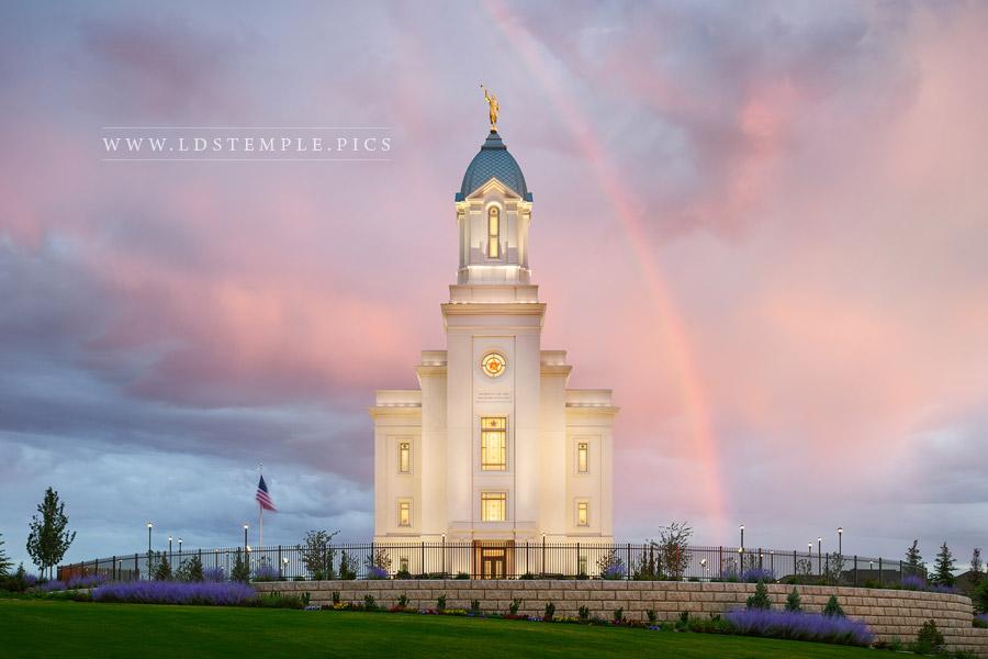 Cedar City Temple Beauty After The Rain Print