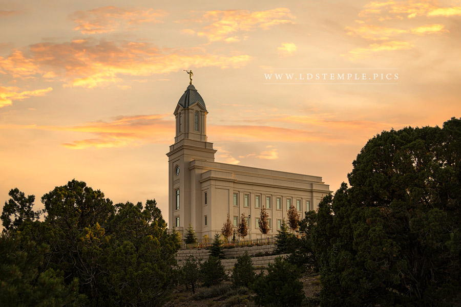 Cedar City Temple Blessings From Above Print