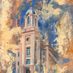 cedar-city-temple-cold-wax-oil-painting
