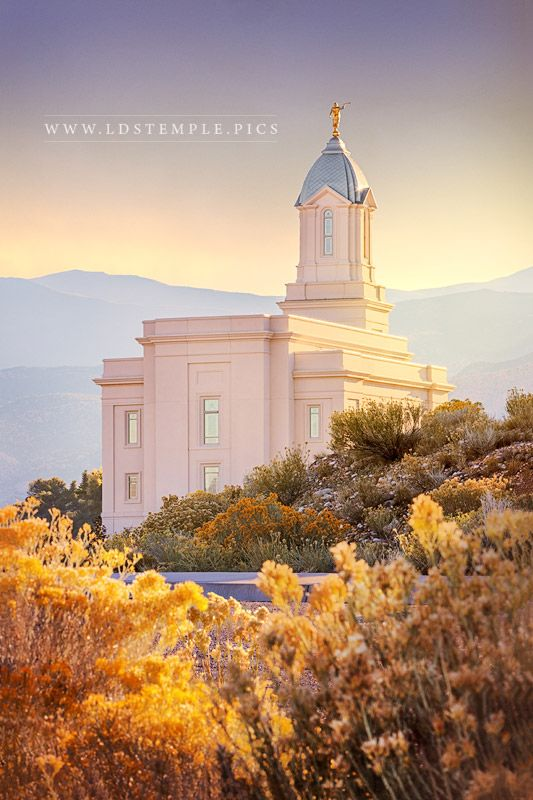 Cedar City Temple Fall Morning Lds Temple Pictures