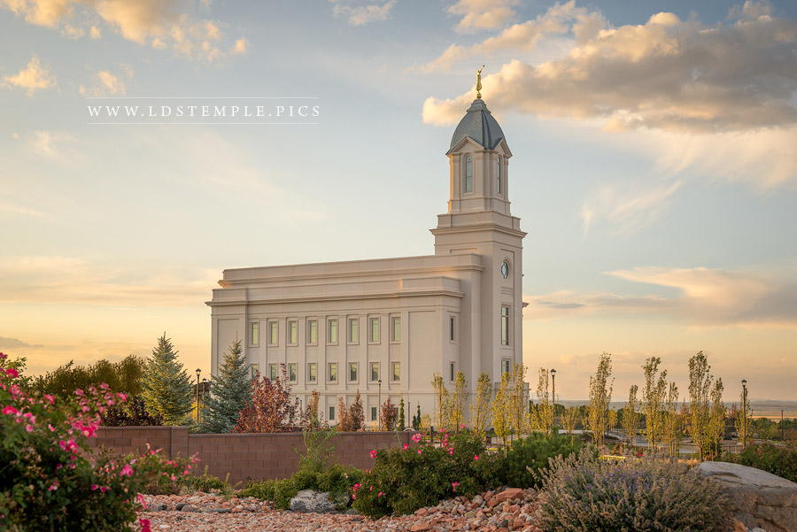 Cedar City Temple Golden Foundations Print