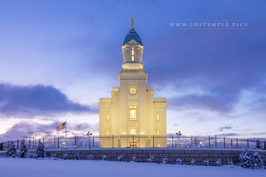Cedar City Temple Purged and Purified Print
