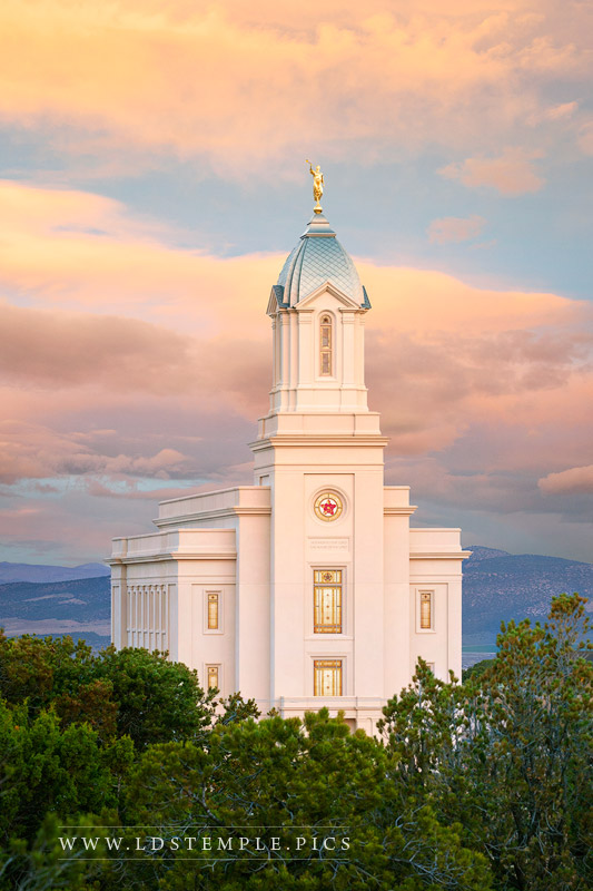 Cedar City Temple Spring Sunrise Print