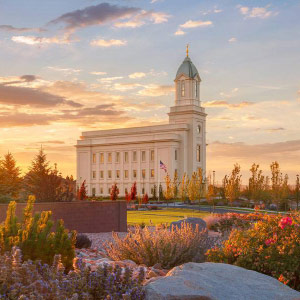 cedar-city-temple-summer-sunset