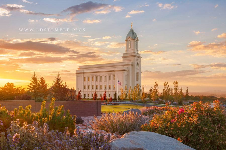 Cedar City Temple Summer Sunset Print