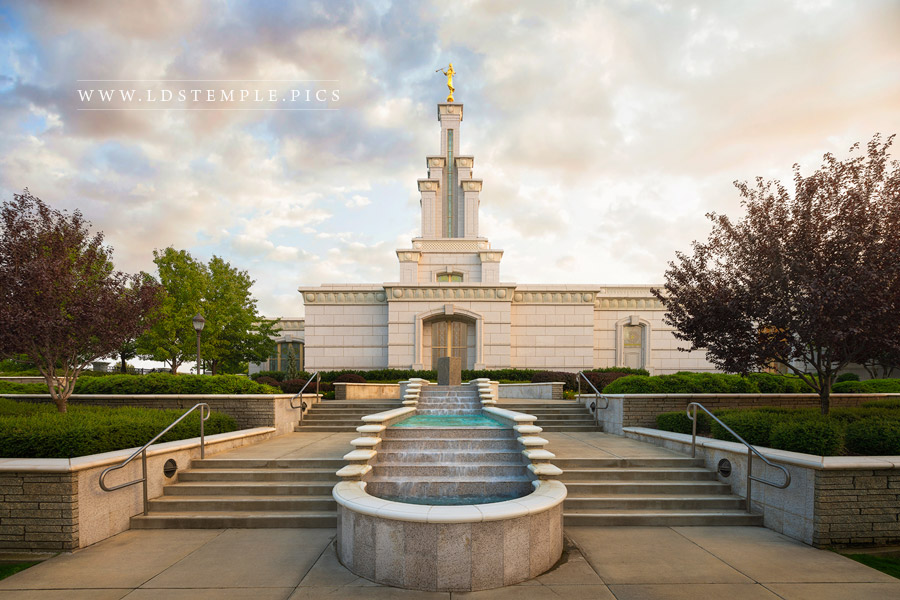 Columbia River Temple Afternoon Skies Print